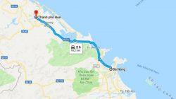 Quãng đường từ Đà Nẵng đi Huế